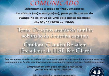 Evangelho ao Vivo – 02/05/2020