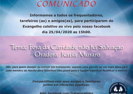 Evangelho ao Vivo – 25/04/2020