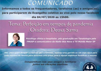 Evangelho ao Vivo – 04/07/2020